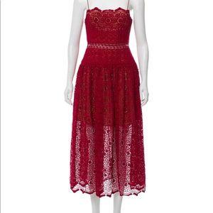 Self portrait red lace maxi dress US4/UK8